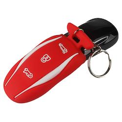 Model S keyfob skydd i många färger