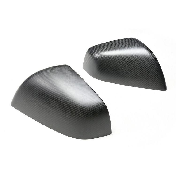 Model X sidospeglar i kolfiber, matt