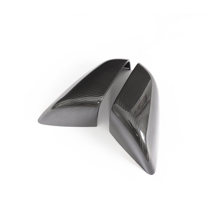 Model X sidospeglar i kolfiber, blank