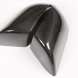 Model S sidospeglar i kolfiber, blank