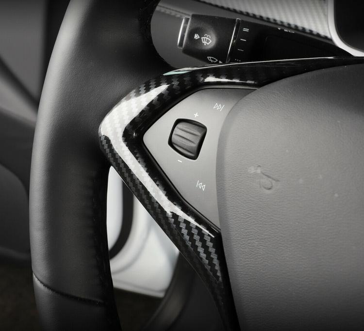 Model S/X hel ratt carbon fiber detaljer