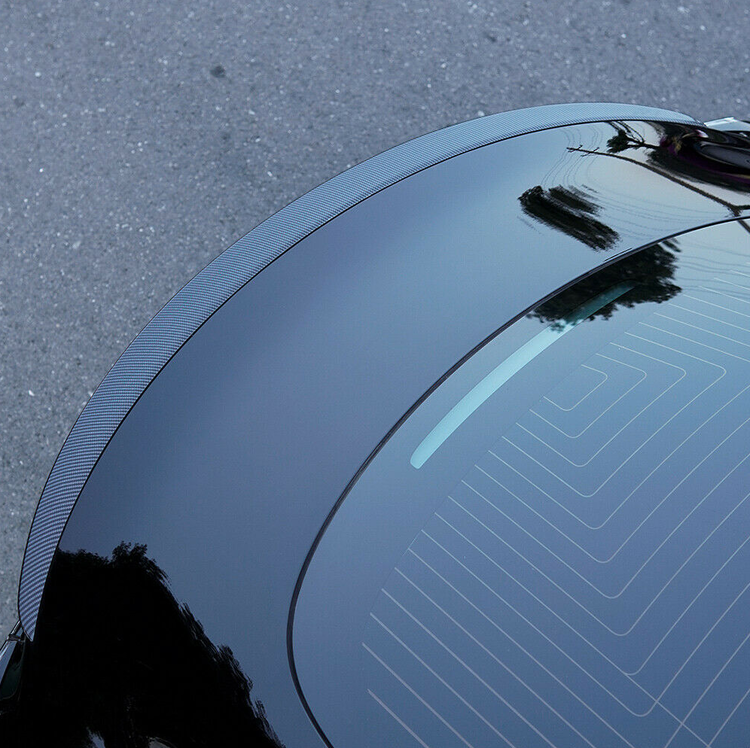 Model 3 Spoiler i ABS med kolfiber utseende matt/blank