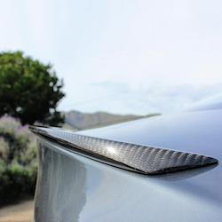 Model S Spoiler i kolfiber blank
