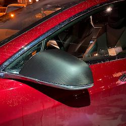 Model S sidospeglar i kolfiber, matt