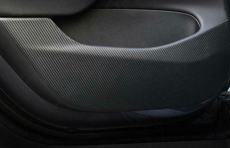 Model 3 kolfiber wrap skydd dörrar
