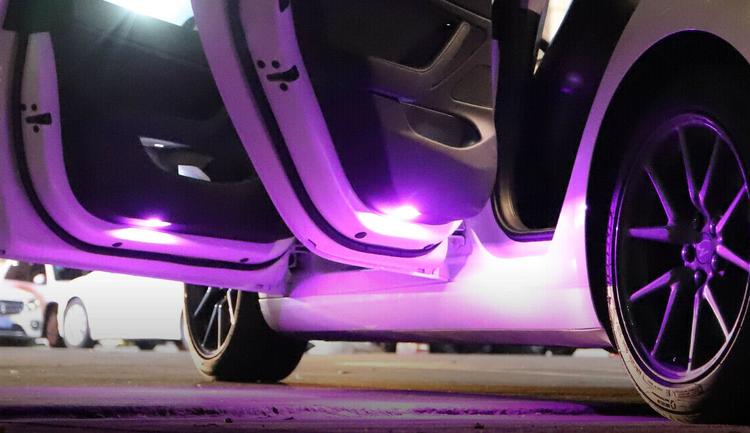 Tesla led lampor lila 2-pack