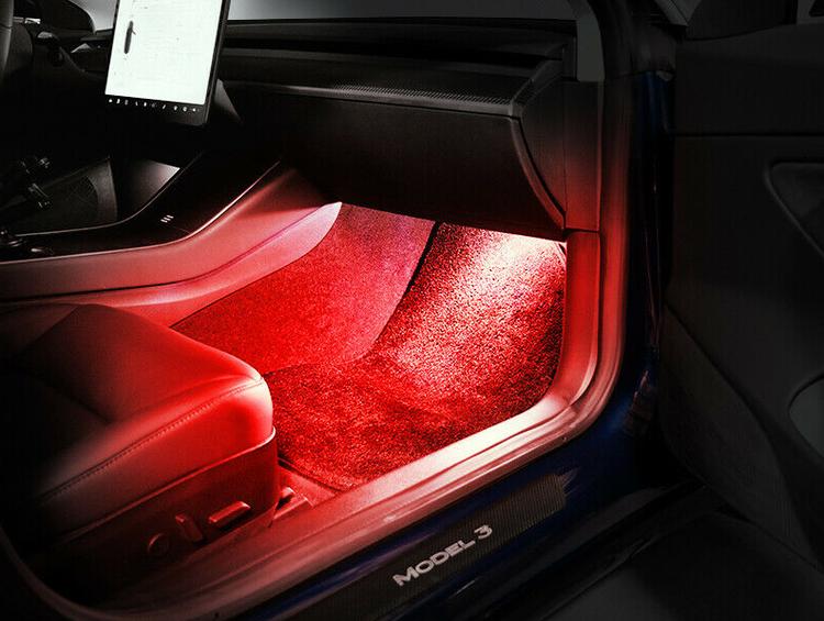Tesla led lampor röd 2-pack
