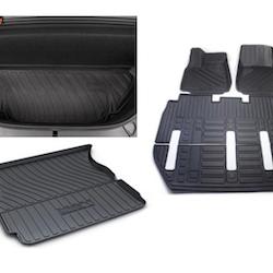 Model X Gummimattor paketpris 7-sits manuell