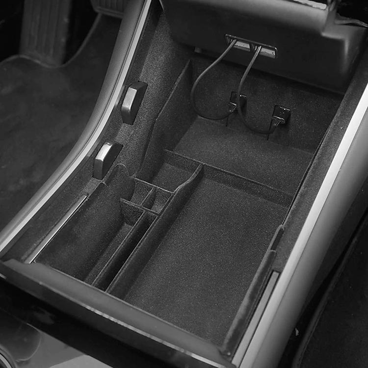 Model 3 nedre center console förvaringslåda