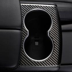 Model S/X mugghållare i ABS med kolfiber utseende för armstöd