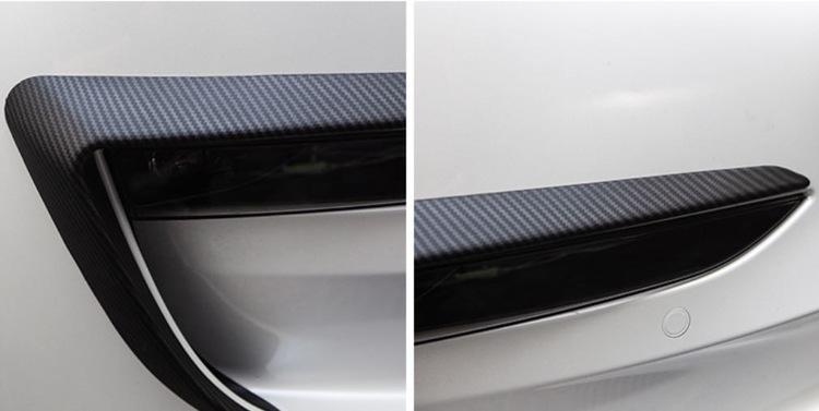 Model 3 ögonfransar, matt/blank kolfiber utseende