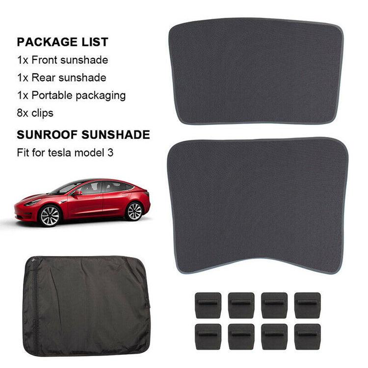 Model 3 solskydd tak