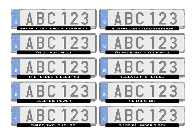 Registreringsskylts list med motiv (2-pack)