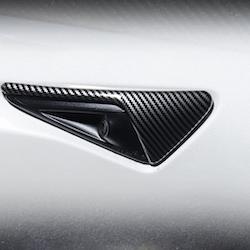 Sidoblinkers i ABS med kolfiber utseende matt/blank