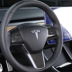 Model 3 & Y kolfiber utseende på ratten blank/matt