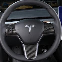 Model 3 kolfiber utseende på ratten blank/matt