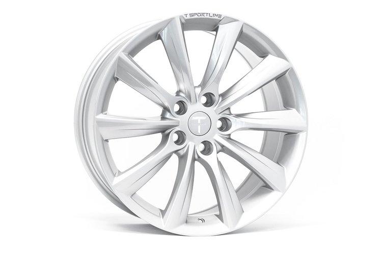 """T-sportline Model X 19"""" TST Turbine style silver"""