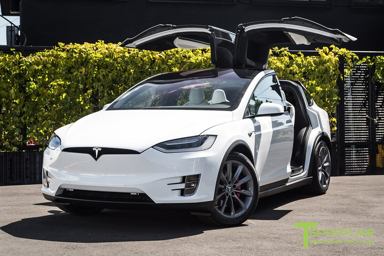 "T-sportline Model X 20"" TST Turbine style staggered space gray"