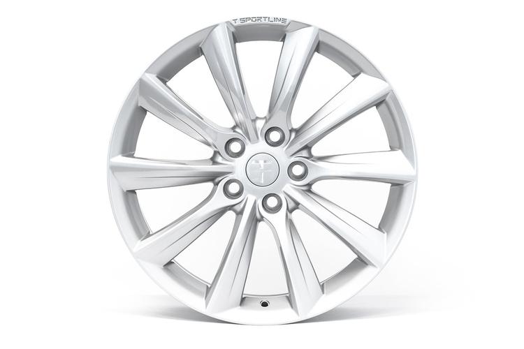 """T-sportline Model S 19"""" TST Turbine style silver"""