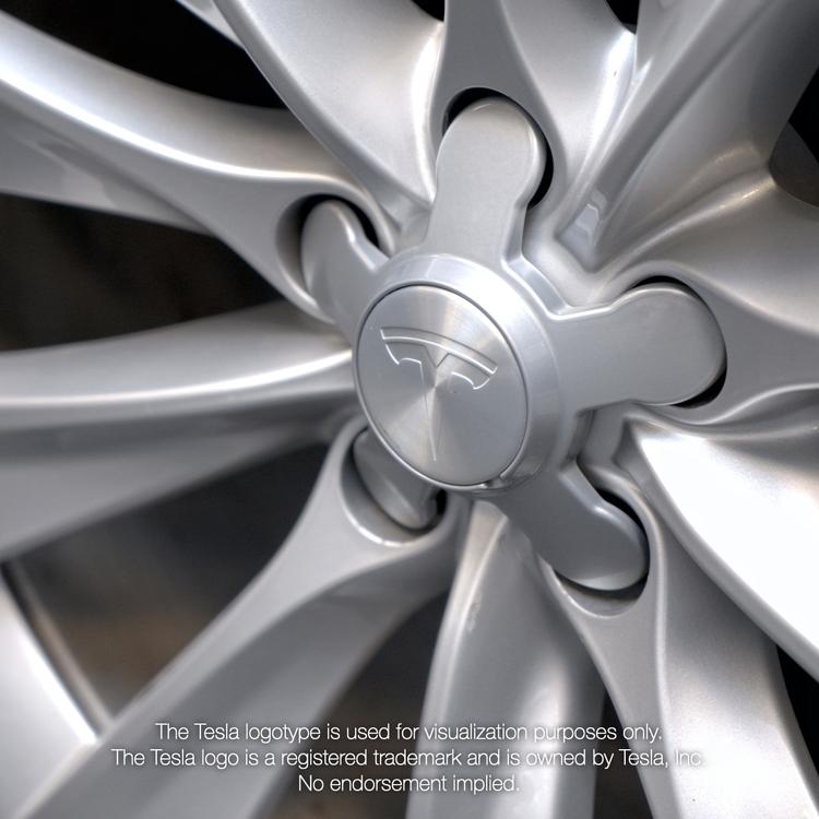 Rimgard fälglås Tesla (4-pack)