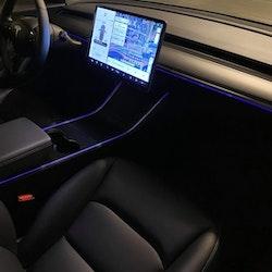 Model 3 & Y led strip, appstyrd - flera färger