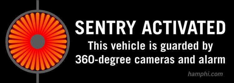 Sentry Mode dekal