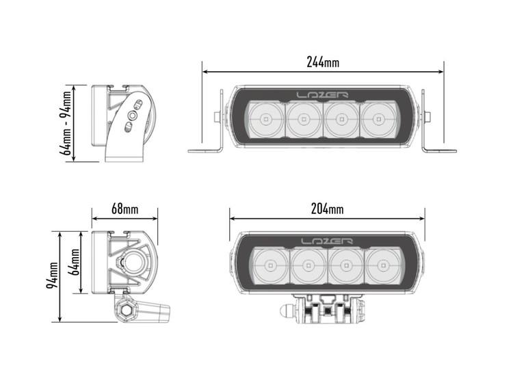 Lazer LED ramp ST4 Evolution