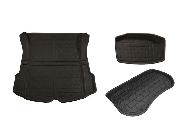 Model 3 bagagerumsmatta + frunkmatta + nedre trunk matta XPE