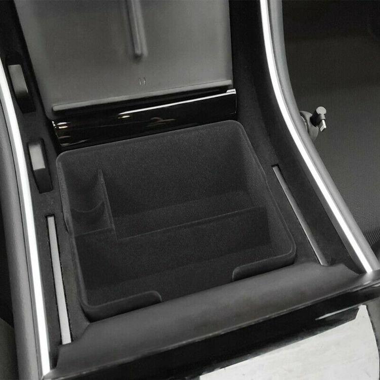 Model 3 center console förvaringslåda tyg