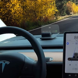 Model 3 Heads up display