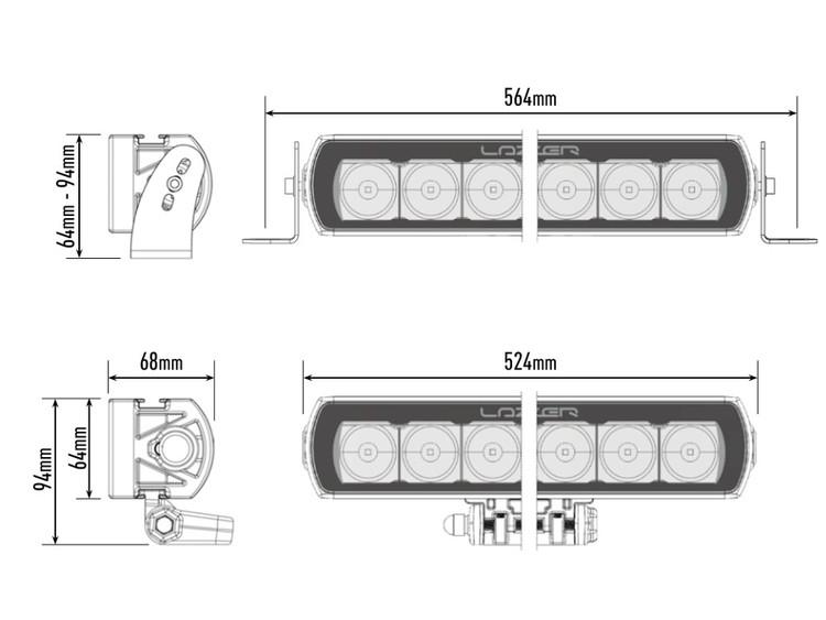 Lazer LED ramp ST12 Evolution