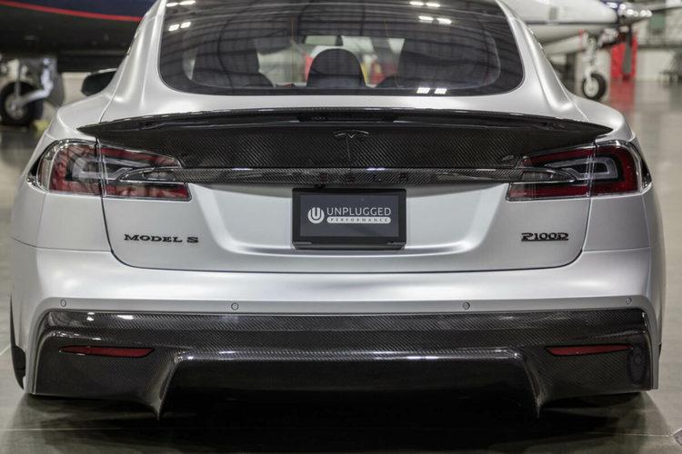 Unplugged Performance Model S aerodynamisk spoiler