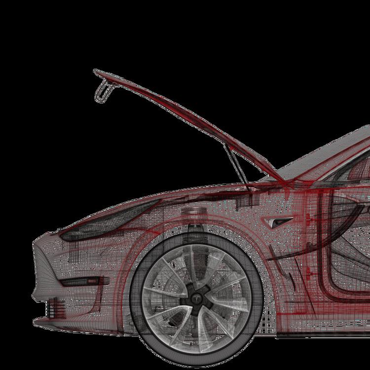 Model 3 eldriven frunk