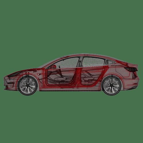 Model 3 automatiska dörrhandtag (4 handtag)