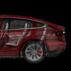 Model X fotsensor trunk