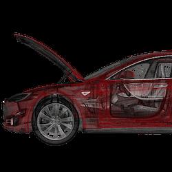 Model S eldriven frunk