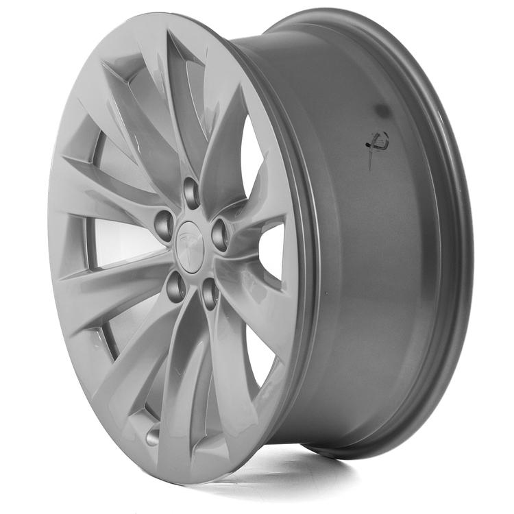 """Tesla Model S 19"""" Original Slipstream Silver (4 fälgar)"""