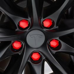 Tesla Model S, 3, X & Y mutterkåpor röda