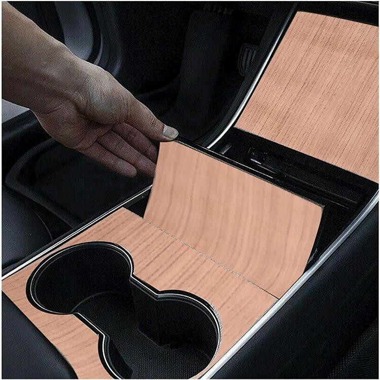 Model 3 center console trä wrap -- FYNDHÖRNAN