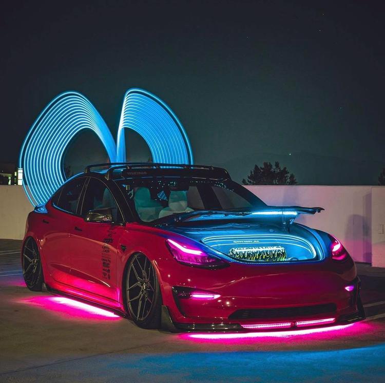Tesla underglow