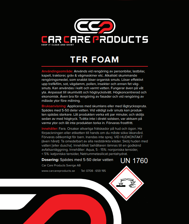 Car Care Products - TFR Foam 1L