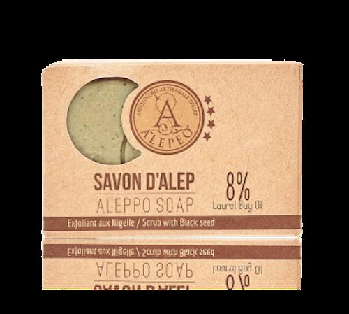 Aleppo Skrubbtvål 8% lagerbärsolja och svartkumminfrön