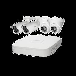 IP-kamerapaket med 4 x FullHD-kameror och inspelningsenhet