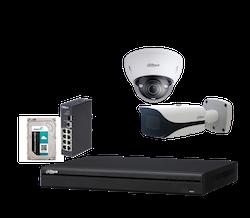 IP-kamerapaket PRO, 8 x FullHD-kameror och inspelningsenhet