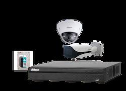 IP-kamerapaket PRO, 4 x FullHD-kameror och inspelningsenhet