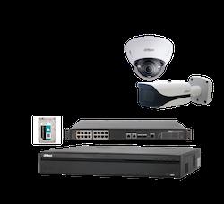 IP-kamerapaket PRO, 16 x FullHD-kameror och inspelningsenhet