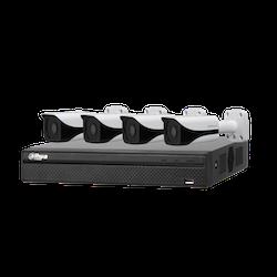 IP-kamerapaket med 4 x 4MP-kameror och inspelningsenhet