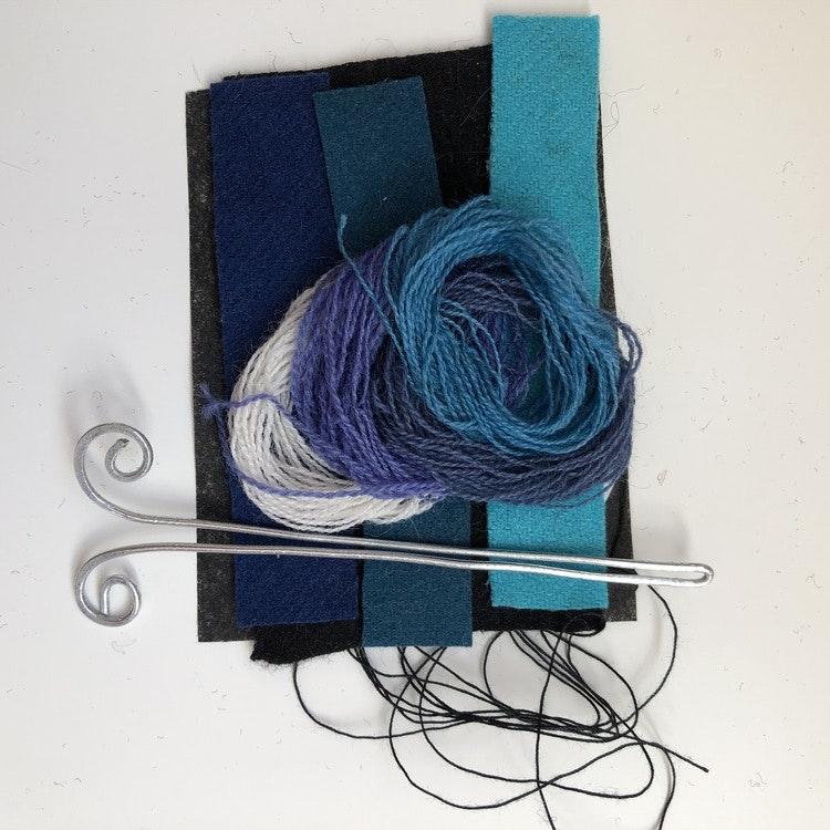 Materialsats hårspänne yllebroderi  Flera varianter