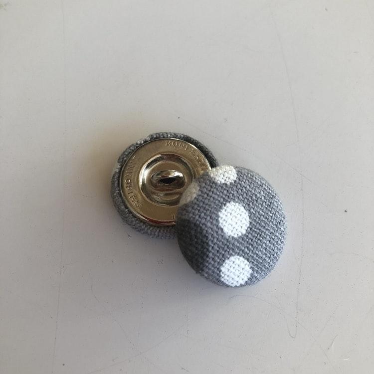 Klädda knappar 23-25 mm återbruk
