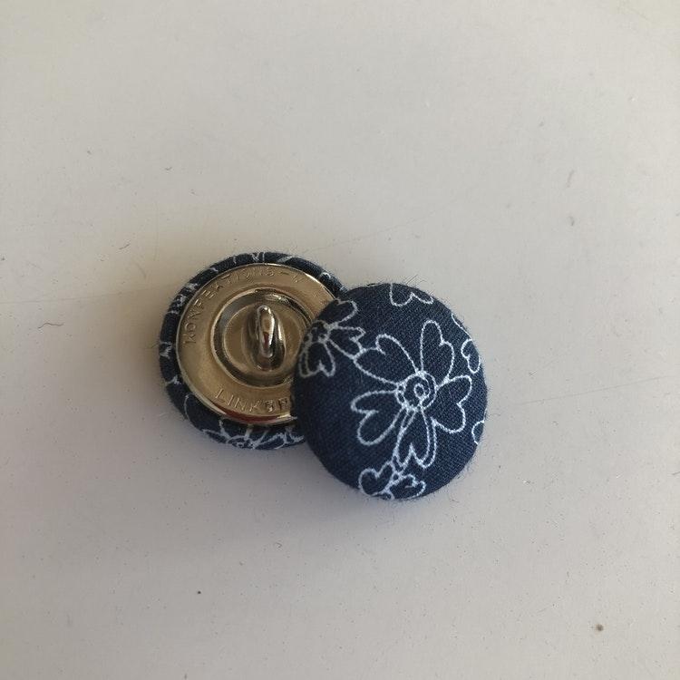 Klädda knappar 23 mm